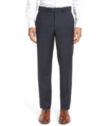 Pantalón de vestir de lana de tartán azul marino de Ted Baker