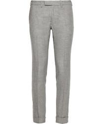 Pantalón de vestir de lana de tartán gris de Gant