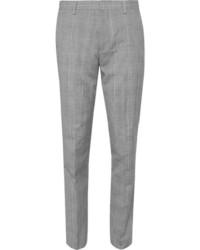 Pantalón de vestir de lana de tartán gris de J.Crew