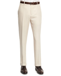 Pantalón de vestir de lana en beige