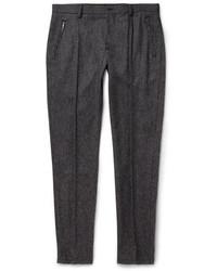 Pantalón de vestir de lana en gris oscuro
