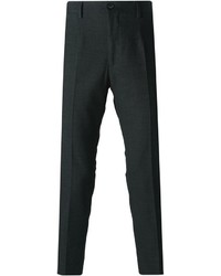 Pantalón de vestir de lana en gris oscuro de Dolce & Gabbana
