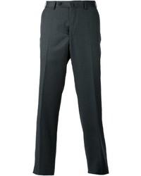 Pantalón de vestir de lana en gris oscuro de Ermenegildo Zegna