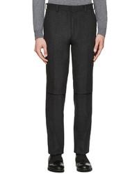 Pantalón de vestir de lana en gris oscuro de John Lawrence Sullivan