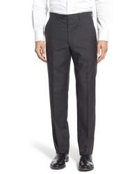 Pantalón de vestir de lana en gris oscuro de Santorelli