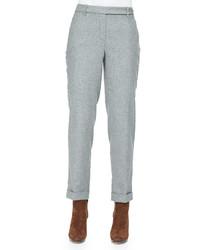 Pantalón de vestir de lana gris de Loro Piana