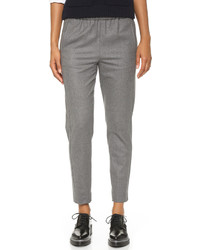 Pantalón de vestir de lana gris de Theory