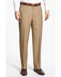 Pantalón de vestir de lana marrón claro