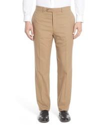Pantalón de vestir de lana marrón claro de Hart Schaffner Marx