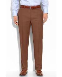 Pantalón de vestir de lana marrón de Canali