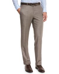 Pantalón de vestir de lana marrón de Ermenegildo Zegna