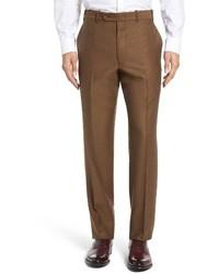 Pantalón de vestir de lana marrón de JB Britches