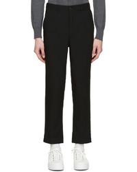 Pantalón de vestir de lana negro de AMI Alexandre Mattiussi