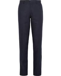 Pantalón de vestir de lino azul marino