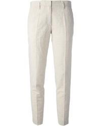 Pantalón de Vestir de Lino Beige de Forte Forte