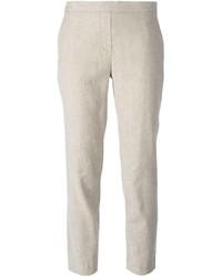 Pantalón de Vestir de Lino Beige de Theory