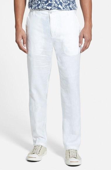 3cda68cb0c1c7 ... Pantalón de vestir de lino blanco de Hugo Boss ...