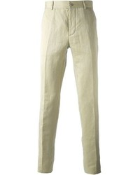 Pantalón de vestir de lino en beige de Maison Martin Margiela