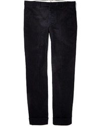 Pantalón de vestir de pana azul marino de Gant