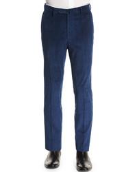 Pantalón de vestir de pana azul marino de Incotex