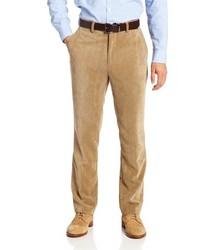 Pantalón de vestir de pana marrón claro