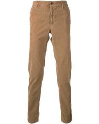 Pantalón de vestir de pana marrón claro de Incotex