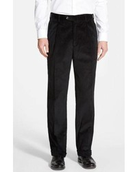 Pantalón de vestir de pana negro