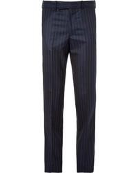Pantalón de vestir de rayas verticales azul marino de Alexander McQueen