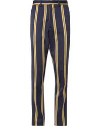 Pantalón de vestir de rayas verticales azul marino de Ami