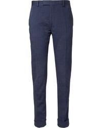 Pantalón de vestir de rayas verticales azul marino de Gant