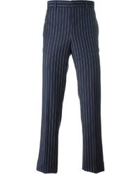 Pantalón de vestir de rayas verticales azul marino de Givenchy