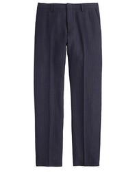Pantalón de vestir de rayas verticales azul marino de J.Crew