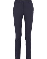 Pantalón de vestir de rayas verticales azul marino de Victoria Beckham