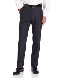 Pantalón de vestir de rayas verticales en gris oscuro