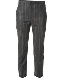 Pantalón de vestir de rayas verticales en gris oscuro de Alexander McQueen