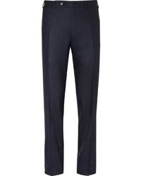 Pantalón de vestir de seda azul marino de Canali
