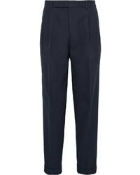 Pantalón de vestir de seersucker azul marino