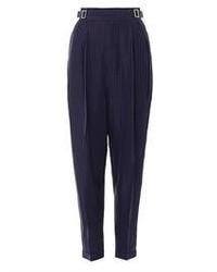 Pantalón de vestir de tartán azul marino