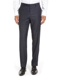 Pantalón de vestir de tartán azul marino de BOSS