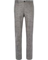 Pantalón de vestir de tartán gris de Etro