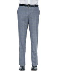 Pantalón de vestir de tartán gris de Incotex