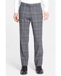 Pantalón de vestir de tartán gris de John Varvatos