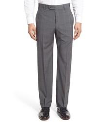 Pantalón de vestir de tartán gris de Zanella