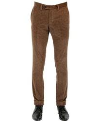 Pantalón de vestir de terciopelo marrón