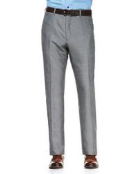 Pantalón de vestir gris de Isaia
