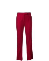 Pantalón de vestir rojo de John Galliano Vintage