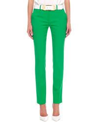Pantalón de vestir verde de Neiman Marcus