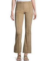 Pantalon flare brun clair The Row