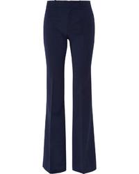 Pantalon flare en laine bleu marine Gucci