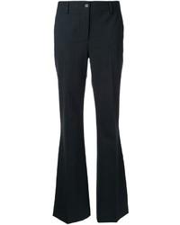 Pantalon flare en laine gris foncé P.A.R.O.S.H.